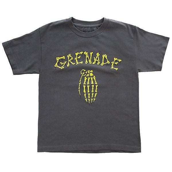 Футболка детская Grenade Bones Charcoal сумка для ноутбука 15 continent cc 01 black нейлон
