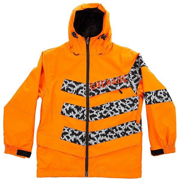 Куртка утепленная детская Grenade Chevron OrangeНе позволяйте погоде разрушить все ваши мечты о снежных прогулках – оденьте куртку Grenade Chevron и ваше тепло будет под контролем.Характеристики:Внутренняя ткань – тафта.Фиксированный капюшон. Двойная застежка – молния. Внешние карманы для рук. Карман для медиа-плеера. Эластичные лайкровые манжеты с прорезями для больших пальцев. Снегозащитная «юбка». Карман для ски-пасса. Регулируемые манжеты на липучках. Фасон: стандартный (regular fit).<br><br>Цвет: оранжевый<br>Тип: Куртка утепленная<br>Возраст: Детский
