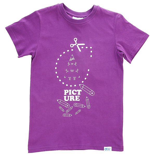 Футболка детская Picture Organic Quick Purple<br><br>Цвет: фиолетовый<br>Тип: Футболка<br>Возраст: Детский