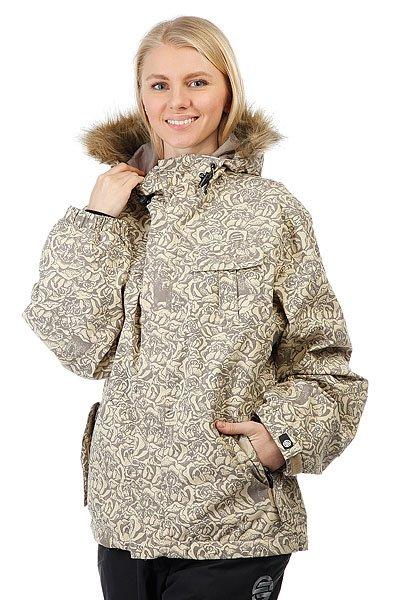 Куртка утепленная женская Santa Cruz Sc 08/09 Kodiak KhakiУниверсальная мужская куртка, которая создана для города и активного отдыха. Удобный крой, необходимые детали в виде карманов и съемной снежной юбки, позволят носить куртку хоть каждый день. А в более холодную погоду можно легко утеплиться дополнительным слоем одежды.Характеристики:Воздухопроницаемая подкладка из сетки и тафты. Регулируемый капюшон. Нагрудные карманы и карманы для рук.Вентиляционные отверстия на молнии с подкладкой из сетки. Эластичные манжеты на кнопке. Съемная снежная юбка. Подол на утяжке для регулировки объема и защиты от ветра. Застежка на молнии с ветрозащитным клапаном на липучках. Просторный крой, не сковывающий движений.<br><br>Цвет: бежевый,серый<br>Тип: Куртка утепленная<br>Возраст: Взрослый<br>Пол: Женский