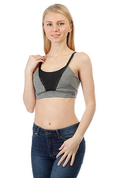 Топ женский Oakley Sessions Bra Athletic Heather Grey<br><br>Цвет: черный,серый<br>Тип: Топ