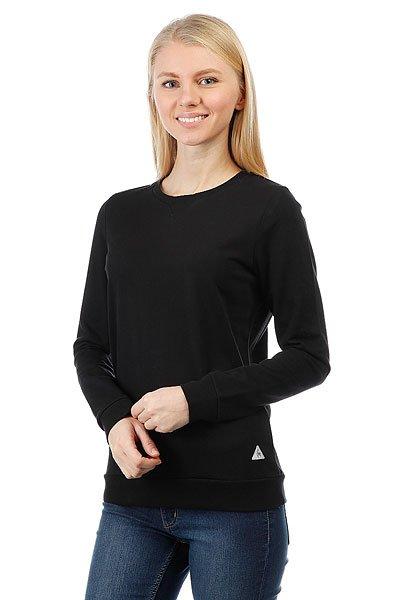 Толстовка свитшот женский Le Coq Sportif Medim Crew Sweat Black<br><br>Цвет: черный<br>Тип: Толстовка свитшот<br>Возраст: Взрослый<br>Пол: Женский