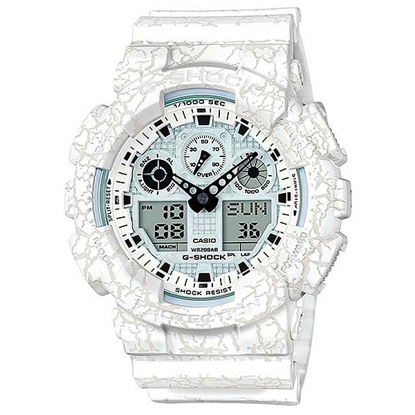 Электронные часы Casio G-Shock Ga-100cg-7a White casio g shock ga 110tp 7a