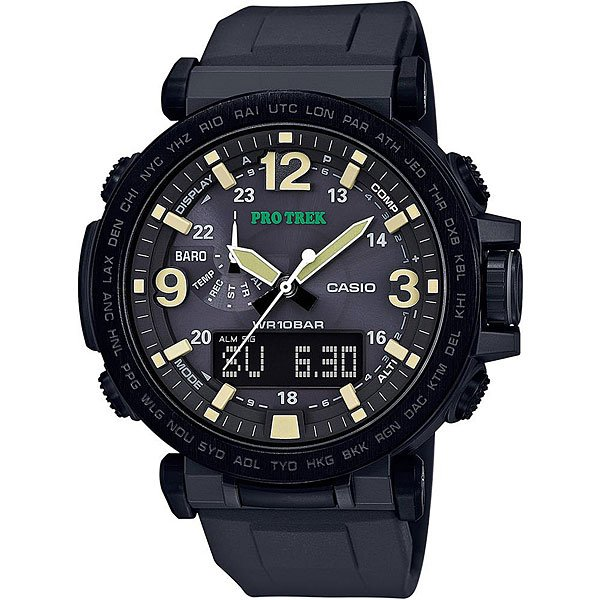 Электронные часы Casio Sport Prg-600y-1e Black батарейка для часов в алматы