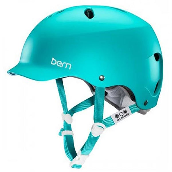 Шлем для сноуборда женский Bern Lenox Matte Turquoise<br><br>Цвет: голубой<br>Тип: Шлем для сноуборда<br>Возраст: Взрослый<br>Пол: Женский
