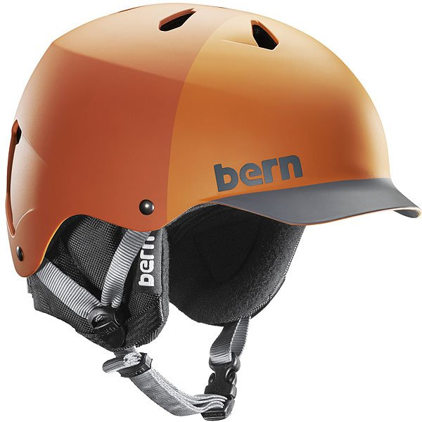 Шлем для скейтборда Bern Water Watts Matte Orange Hatstyle