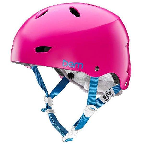 Шлем для сноуборда женский Bern Water Brighton Satin Magenta<br><br>Цвет: розовый<br>Тип: Шлем для сноуборда<br>Возраст: Взрослый<br>Пол: Женский