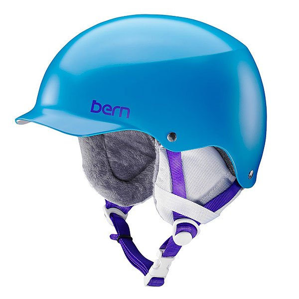 Шлем для сноуборда женский Bern Team Muse Satin Ocean Blue/White Cordova Earlaps