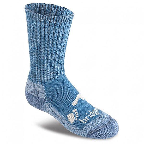 Носки средние детские Bridgedale Woolfusion Trekker Storm Blue<br><br>Цвет: мультиколор<br>Тип: Носки средние<br>Возраст: Детский