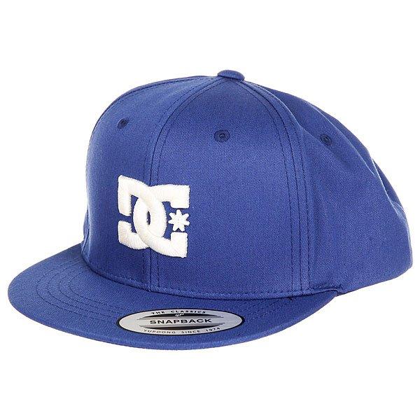 Бейсболка с прямым козырьком DC Snappy Summer Blues<br><br>Цвет: синий<br>Тип: Бейсболка с прямым козырьком<br>Возраст: Взрослый