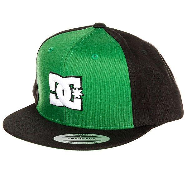 Бейсболка с прямым козырьком DC Snappy Fluo Green<br><br>Цвет: черный,зеленый<br>Тип: Бейсболка с прямым козырьком<br>Возраст: Взрослый