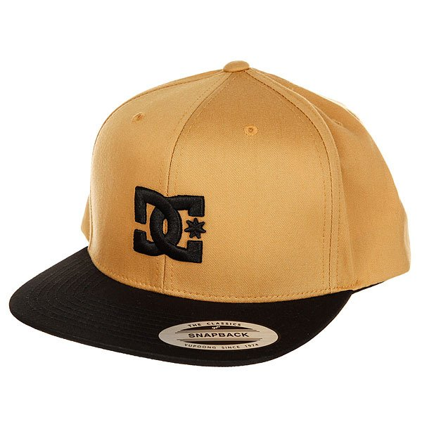 Бейсболка с прямым козырьком DC Snappy Amber Gold рубашка в клетку dc shoes reedsbirg ls amber gold