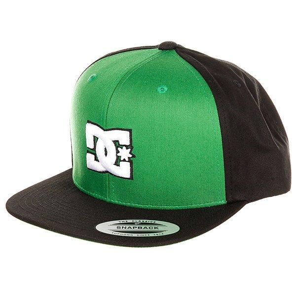 Бейсболка с прямым козырьком детская DC Snappy Boy Fluo Green<br><br>Цвет: черный,зеленый<br>Тип: Бейсболка с прямым козырьком<br>Возраст: Детский
