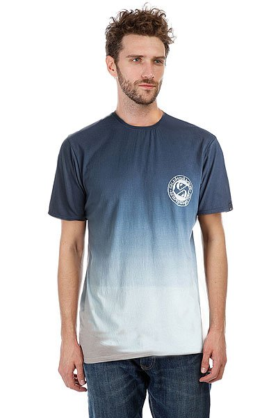 Футболка Quiksilver Tripple Fade Vallarta Blue<br><br>Цвет: синий<br>Тип: Футболка<br>Возраст: Взрослый<br>Пол: Мужской