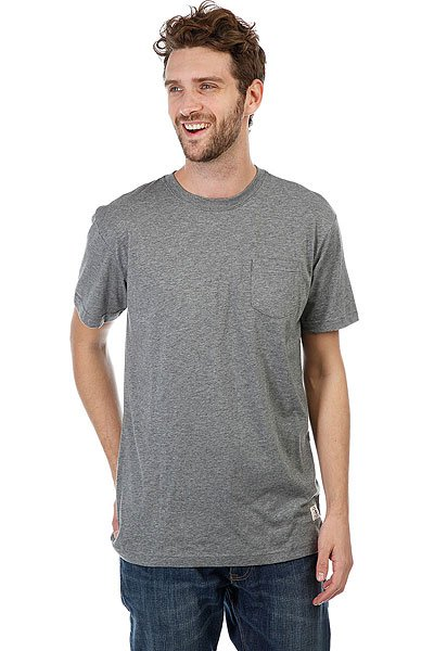 Футболка DC Basic Pocket Charcoal Heather<br><br>Цвет: серый<br>Тип: Футболка<br>Возраст: Взрослый<br>Пол: Мужской