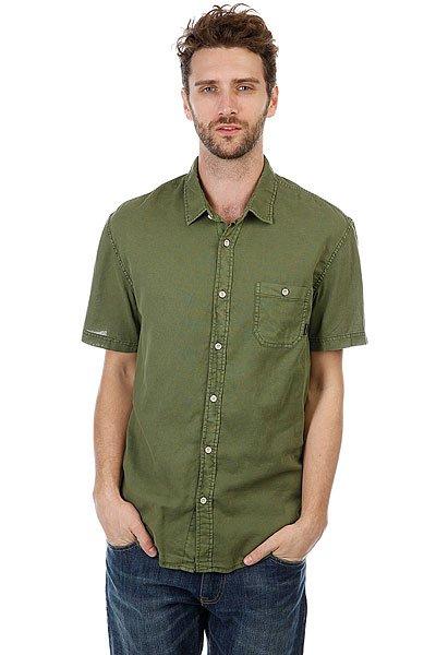 Рубашка Quiksilver Timebox Four Leaf Clover<br><br>Цвет: зеленый<br>Тип: Рубашка<br>Возраст: Взрослый<br>Пол: Мужской