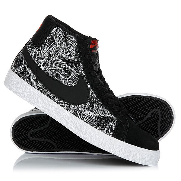 Кеды кроссовки высокие Nike Sb Blazer Zoom Mid Black/White