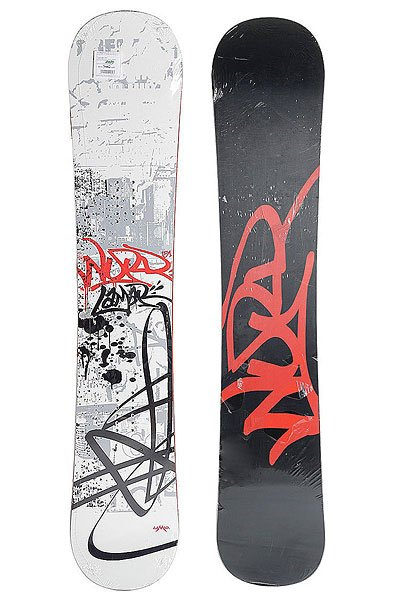 Сноуборд Lamar Word Mac Cam Sidewall 158 Black/White/Red
