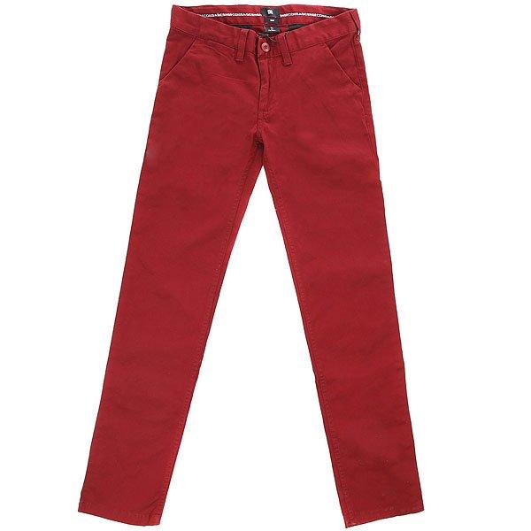Штаны узкие детская DC Wrk Slm Chno By Syrah<br><br>Цвет: бордовый<br>Тип: Штаны узкие<br>Возраст: Детский