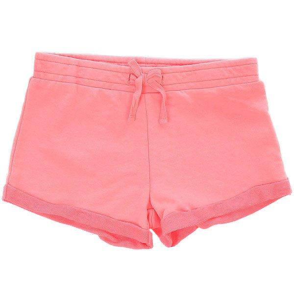 Шорты классические детские Roxy Littleinagua Neon Grapefruit<br><br>Цвет: розовый<br>Тип: Шорты классические<br>Возраст: Детский