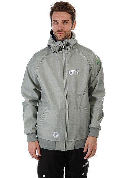 Куртка утепленная Picture Organic Softshell Rules GreyКаждый уважающий себя райдер имеет у себя в шкафу как минимум один софтшелл, Это настоящая палочка-выручалочка. В очень холодную погоду ее можно надеть под куртку, так как она мягкая и сделана из теплого флиса, при этом обладает дышащими свойствами. В достаточно теплые и солнечные дни она вам полностью заменит куртку, так как она легкая, с мембраной, водоотталкивающей пропиткой DWR и множеством других полезных функций.Характеристики:Мембрана 10 000 mm/10 000 g.Водонепроницаемое покрытие DWR. Ткань Softshell: непродуваемая, дышащая, стрейч. Молнии YKK. Вентиляция на молнии. Снегозащитная юбка. Система Clip-to-pant, позволяющая пристегивать к куртке штаны. Регулируемый слитный капюшон.Карман для ски-пасса.<br><br>Цвет: серый<br>Тип: Куртка утепленная<br>Возраст: Взрослый<br>Пол: Мужской