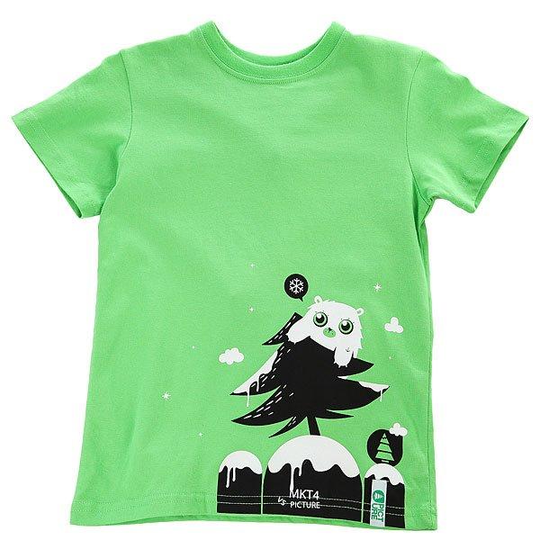 Футболка детская Picture Organic Sloogu Green<br><br>Цвет: зеленый<br>Тип: Футболка<br>Возраст: Детский