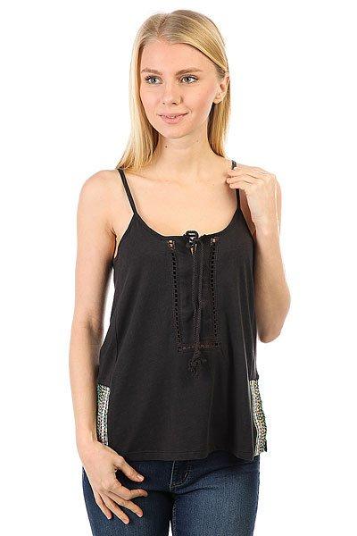 Майка женская Roxy Knit Top Charcoal<br><br>Цвет: черный<br>Тип: Майка<br>Возраст: Взрослый<br>Пол: Женский