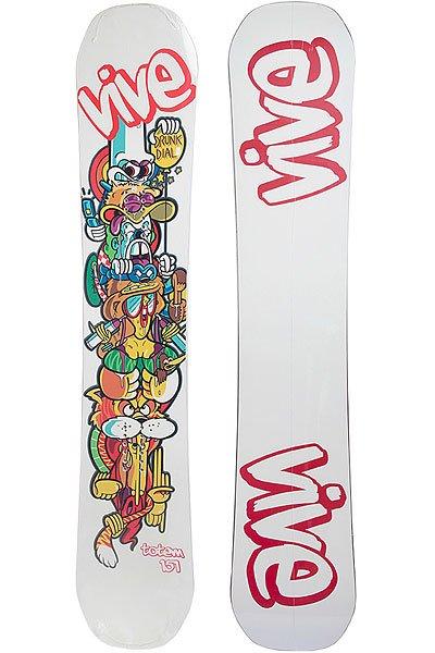 Сноуборд Vive Totem Mens 3-cam White 158Универсальный сноубордVIVE LVFR Men's T-Cam Grayотлично подойдет как для начинающих райдеров, так и продвинутых. Сноуборд имеет стильный и сдержанный дизайн.Характеристики:Улучшенное спеченное основание.Конструкция Sandwich. Деревянный сердечник. Вставка из углерода на носу и пятке. Прогиб: кэмбер. Форма: симметричная.<br><br>Цвет: белый<br>Тип: Сноуборд<br>Возраст: Взрослый<br>Пол: Мужской