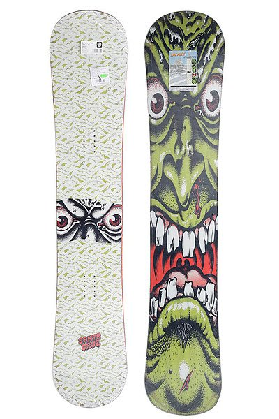 Сноуборд Santa Cruz 11/12 Face Go Big Rocker Double Sidecut True Twin Translucent Green 158 штаны сноубордические santa cruz andromeda fern green