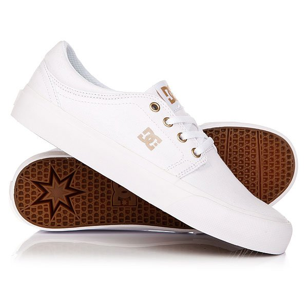 Кеды кроссовки низкие женские DC Trase Tx White/GumКлассические всеми любимые DC Trase TX SE с аккуратным силуэтом, которые не перестают быть ежесезонной маст-хэв составляющей гардероба. Эти базовые кеды на удобной вулканизированной подошве готовы отлично вписаться в любой стиль, позволяя наслаждаться длительными прогулками в комфортной и удобной обуви.Характеристики:Фирменный логотип на язычке и сбоку.Металлические люверсы шнуровки. Плоские вощеные шнурки с металлическими люверсами. Мягкая область лодыжки. Фирменный логотип на пятке. Гибкая каучуковая подошва. Фирменный цепкий протектор Pill Pattern. Вулканизированная конструкция подошвы. Материал верха: прочный текстиль.<br><br>Цвет: белый<br>Тип: Кеды низкие<br>Возраст: Взрослый<br>Пол: Женский