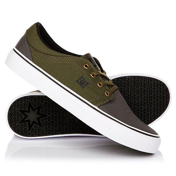 Кеды кроссовки низкие DC Trase Tx Grey/Black/Green