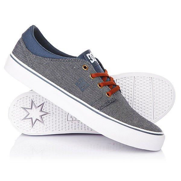 Кеды кроссовки низкие DC Trase Tx Se Navy/White кеды кроссовки высокие женские dc rebound high tx navy gum