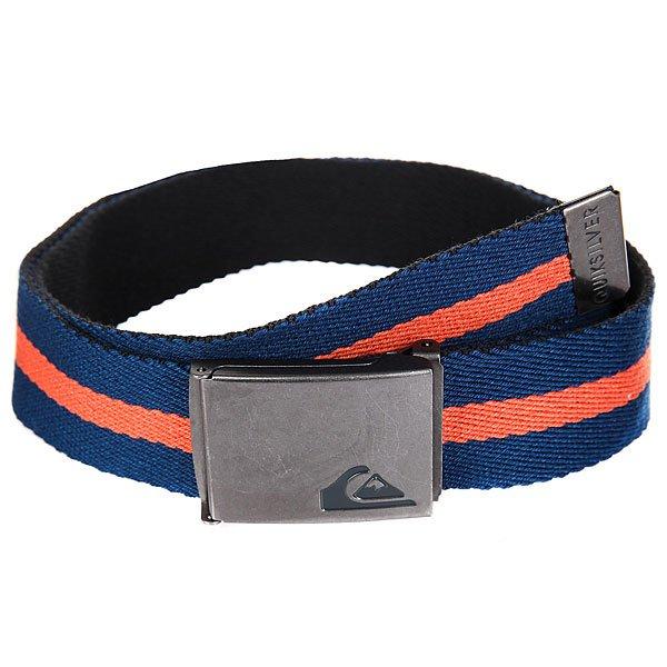 Ремень Quiksilver The Jam 3 Estate Blue<br><br>Цвет: оранжевый,синий<br>Тип: Ремень<br>Возраст: Взрослый<br>Пол: Мужской