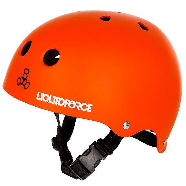 Водный шлем Liquid Force Icon OrangeНадежный шлем с отличным дизайном, выполнен из пластика ABS повышенной плотности.Новый уровень комфорта и безопасности.Характеристики:Корпус из пластика ABS повышенной плотности. Закрытая пенная подкладка двойной плотности, не впитывает воду, а шлем остается легким. Подкладка из материала Pro-Dri Plus, отталкивает влагу и обеспечивает комфортную посадку на голове. Соответствуетстандарту CE EN 1385 для водных видов спорта.<br><br>Цвет: оранжевый<br>Тип: Водный шлем<br>Возраст: Взрослый<br>Пол: Мужской