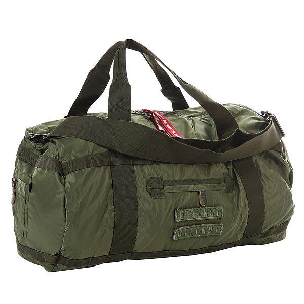Сумка спортивная K1X X Alpha Duffle Bag Sage GreenСпортивная сумка, созданная при совместном сотрудничестве K1X с американским брендом Alpha Industries. Прочная сумка из нейлона в благородной цветовой гамме.Технические характеристики: Материал сумки - прочный нейлон из которого изготавливаются куртки Alpha Industries.Стеганая подкладка.Главное отделение на молнии.Несколько внешних карманов.Регулируемый плечевой ремень и ручки для переноски.<br><br>Цвет: зеленый<br>Тип: Сумка спортивная<br>Возраст: Взрослый<br>Пол: Мужской