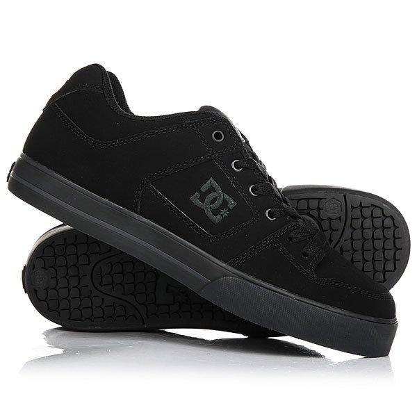 Кеды кроссовки низкие DC Pure Black/Pirate Black<br><br>Цвет: черный<br>Тип: Кеды низкие<br>Возраст: Взрослый<br>Пол: Мужской