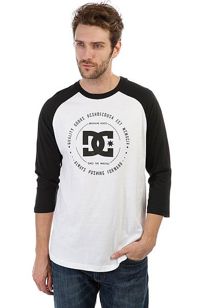 Лонгслив DC Rebuilt 2raglan Snow White/Black