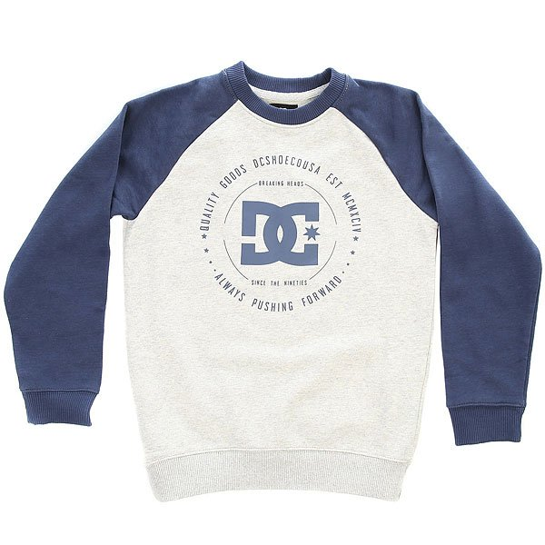 Толстовка классическая детская DC Rebuilt Raglan Summer Blues/Light футболка детская dc rebuilt ss by tees white tropical