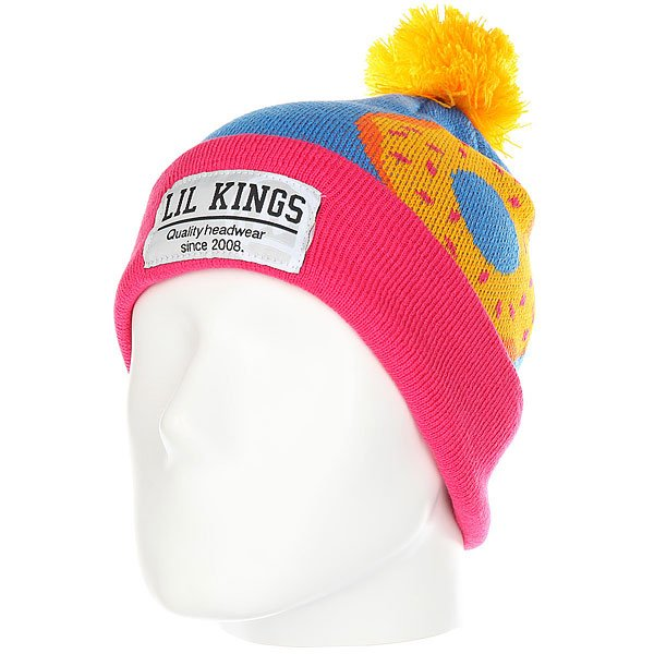 Шапка Lil Kings Pon-pon Donuts Orange lil kings шапка lil kings old beanie purple