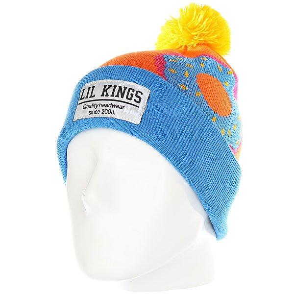 Шапка Lil Kings Pon-pon Donuts Blue<br><br>Цвет: синий,оранжевый<br>Тип: Шапка<br>Возраст: Взрослый<br>Пол: Мужской