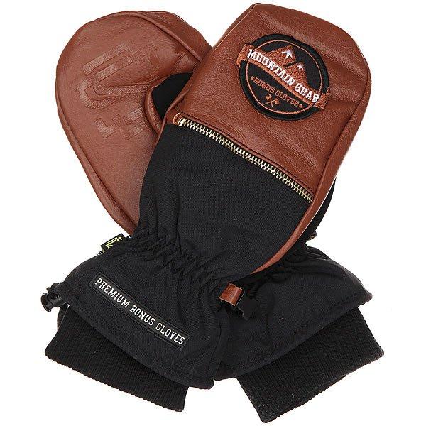 Варежки Bonus Gloves Leather Brown