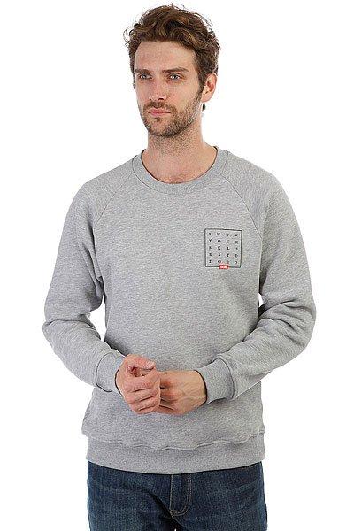 Толстовка классическая Skills Slogan Quad Sweatshirt Серый