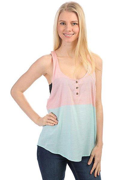 Майка женский Volcom Heist Tank Jade<br><br>Цвет: голубой,розовый<br>Тип: Майка<br>Возраст: Взрослый<br>Пол: Женский