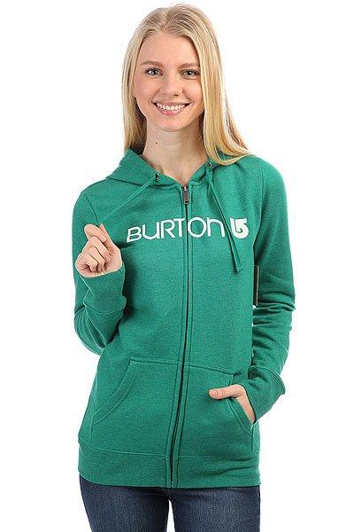 Толстовка классическая женская Burton Her Logo Fz Heather Ultramarine<br><br>Цвет: зеленый<br>Тип: Толстовка классическая<br>Возраст: Взрослый<br>Пол: Женский