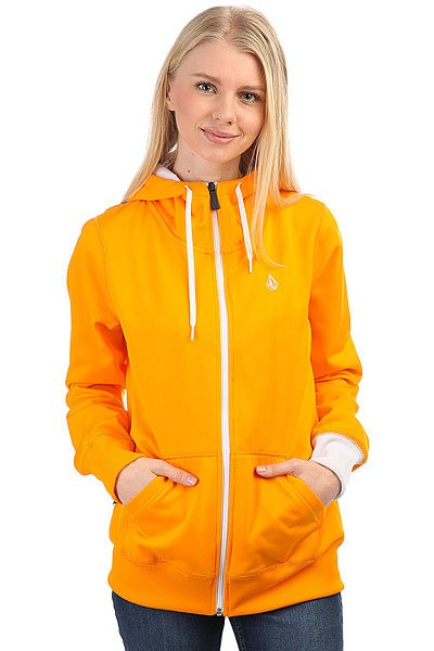Толстовка классическая женская Volcom Carpel Basic Hooded Full Zip Orange<br><br>Цвет: оранжевый<br>Тип: Толстовка классическая<br>Возраст: Взрослый<br>Пол: Женский