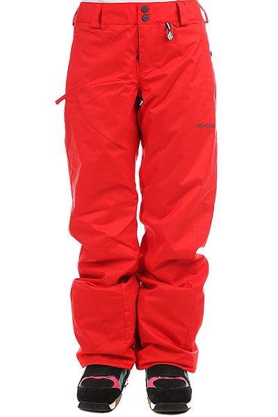 Штаны сноубордические женские Volcom Boom Ins Pant Scarlet