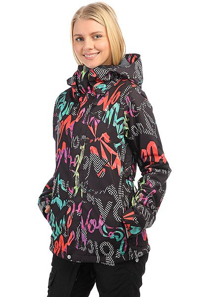 Куртка утепленная женская Volcom Clove Insulated Jacket Script Stripe Black