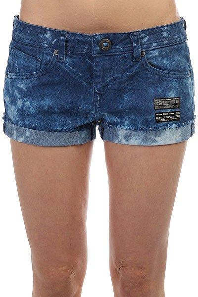 Шорты джинсовые женские Volcom Soundcheck Short Navy Tie Dye<br><br>Цвет: синий<br>Тип: Шорты джинсовые<br>Возраст: Взрослый<br>Пол: Женский