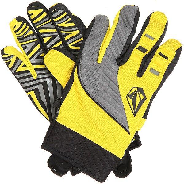 Перчатки сноубордические Volcom Atlantic Pipe Glove Yellow<br><br>Цвет: черный,желтый,серый<br>Тип: Перчатки сноубордические<br>Возраст: Взрослый<br>Пол: Мужской