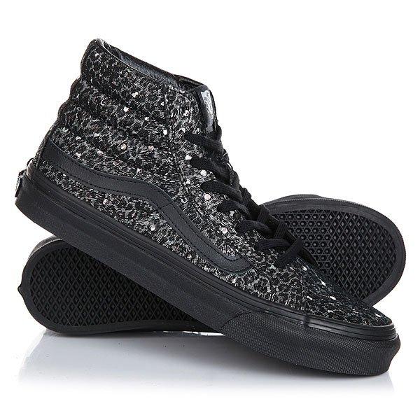 Кеды кроссовки высокие женские Vans Sk8-hi All Metallic Leopard<br><br>Цвет: черный,серый<br>Тип: Кеды высокие<br>Возраст: Взрослый<br>Пол: Женский
